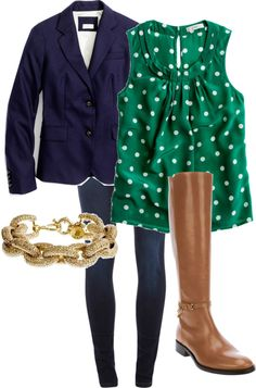 Analogous: The colors used to create this color scheme are blue and green. This outfit creates a analogous color scheme because the blue and green compliment each other and share a common hue. This outfit would affect the body by bringing out eye color for someone with green or blue eyes. This particular outfit is calming. Brb going to get a navy blazer and a green shirt..