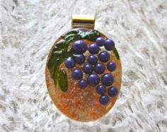 fused glass grapes - Google Search