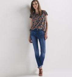 Jean slim taille haute Femme jean moyen - Promod