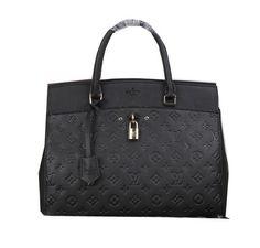 Louis Vuitton Monogram Empreinte Tote Bag M63172 Black