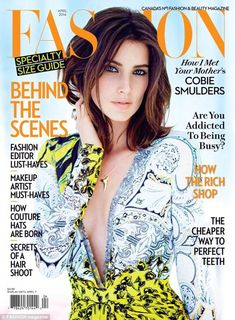 The plunge: Cobie Smulders stuns on the cover of Fashion Magazine in a low cut dress