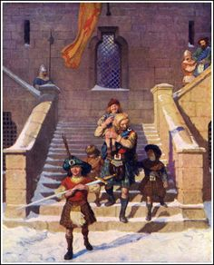 """Illustration from """"The Scottish Chiefs,"""" by Jane Porter (1921)"""