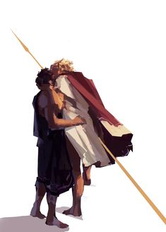 Digital painting of Achilles and Patroclus kissing (C) Greek And Roman Mythology, Greek Gods, The Song Of Achilles, Achilles And Patroclus, Captive Prince, Hades And Persephone, Solangelo, Fanart, Heroes Of Olympus