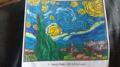 Michaella Newman's entry to our Chameleon Starry Night contest Van Gogh Art, Van Gogh Paintings, Vincent Van Gogh, Chameleon, Night, Artist, Artwork, Work Of Art, Auguste Rodin Artwork