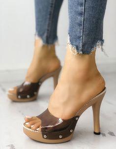 Zapato gueso bonitos Platform High Heels 90067aed8ffc