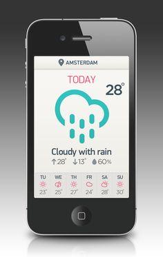 20 Beautifully Designed Weather Apps & Concepts | athenna-design | Web Design | Design de Comunicação Em Foz do Iguaçu | Web Marketing | Paraná