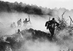 Stormtroopers advancing through smoke cover during the Spring Offensive 1918