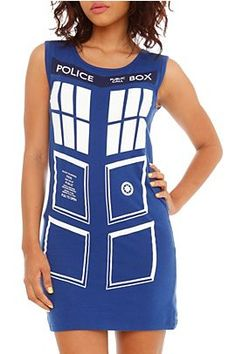 Tardis tank/dress. Bought this tonight at Hot Topic. My plan B halloween costume (though I am wearing it to class tomorrow)