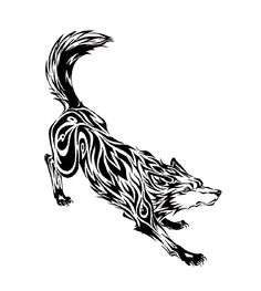 60 Awesome wolf tattoos + more about the meaning of wolves. Designs include tribal and howling wolves, wolf head and paw tattoos. Wolf Tattoos, Wolf Tattoo Back, Tribal Wolf Tattoo, Small Wolf Tattoo, Wolf Tattoo Sleeve, Tribal Sleeve Tattoos, Tattoos Skull, Lion Tattoo, Animal Tattoos