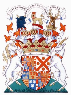 The Duke of Richmond's Coat of Arms version entered in the College of Arms in 1990.