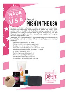 All Perfectly Posh products are made in the USA. https://www.perfectlyposh.com/poshitwithsteph