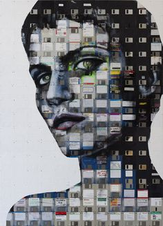 London artist Nick Gentry is fascinated with obsolete technology such as film negatives and floppy disks, and this project is a perfect example of what happens when technology and art collide.