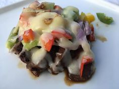 Best low carb, keto approved Philly Cheese Steak Melt. Amazingly delicious and so easy to make for a quick, healthy ketogenic meal.