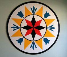 Pennsylvania Dutch Hex Sign: symbol of prosperity Barn Quilt Designs, Barn Quilt Patterns, Star Quilts, Quilt Blocks, German Folk, Creating Wealth, Barn Art, Pennsylvania Dutch, Fantastic Art