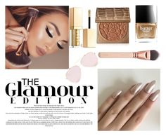 """""""Glamour Nude Bronze Makeup"""" by pinkybo ❤ liked on Polyvore featuring tarte, Butter London and Stila"""
