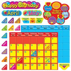 T-8276 Classic Calendar Duo Bulletin Board Set
