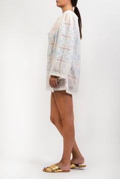 Official Store, Embroidered Silk, Cover Up, Tunic, Blouse, Summer, Shopping, Dresses, Fashion
