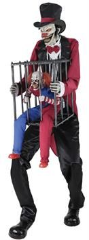 ROTTEN RINGMASTER W CLOWN CAGE - CostumePub.com Halloween 2019, Halloween Horror, Halloween Kids, Halloween Party, Haunted House Decorations, Halloween Haunted Houses, Halloween Decorations, Halloween Animatronics, Animated Halloween Props