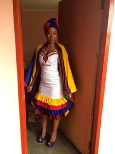 South African Traditional Dresses, Traditional Wedding Dresses, Traditional Fashion, Traditional Outfits, African Print Dresses, African Print Fashion, African Fashion Dresses, African Dress, African Prints
