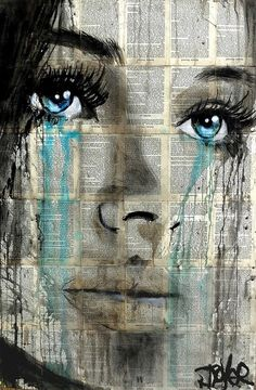 Loui Jover - Drawings for Sale Frida Art, Newspaper Art, Arte Pop, Portrait Art, Face Art, Amazing Art, Art Drawings, Cool Art, Saatchi Art
