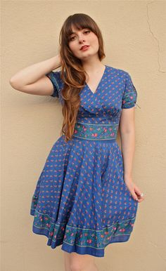 Vintage square dance dress.