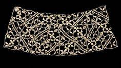 Needlepoint (Punto in aria) Lace Collar, late 16th century Italy, Genoa, late 16th century lace, needlepoint, Average - h:12.50 w:33.05 cm (h:4 7/8 w:13 inches). Gift of J. H. Wade 1920.1239