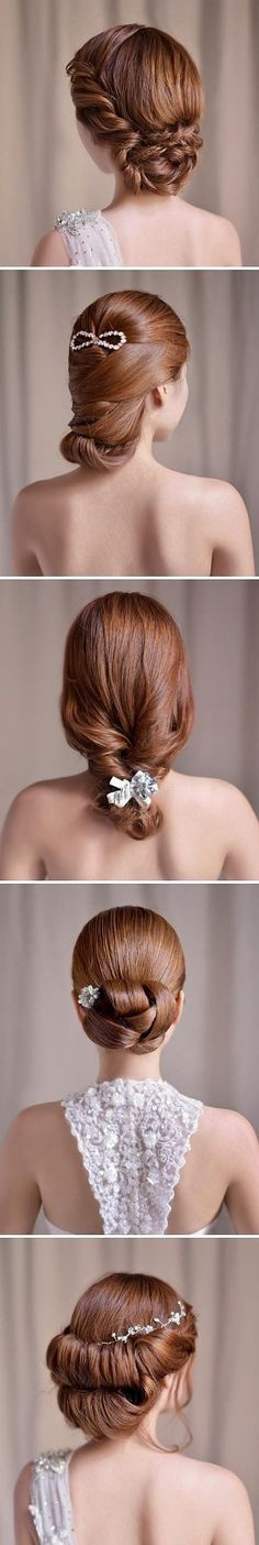 Hair ideas for bridesmaids. I like the last 2