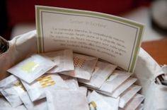 #wedding #favors #cadeaux invités # graines à planter