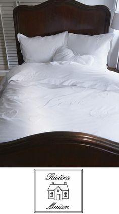Riviera Maison Love Lace duvet cover,wit hart,borduur, overtrek romantiek,lavendel geur zakje