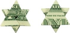 Fold a Money Origami Star from a Dollar Bill - Step by Step Instructions stocking suffers on gifts to put on tree. There are other money origami instructions at this website: www.homemade-gifts-made- Feliz Hanukkah, Hanukkah Crafts, Jewish Crafts, Hanukkah Decorations, Hannukah, Happy Hanukkah, Christmas Hanukkah, Jewish Hanukkah, Hanukkah Recipes