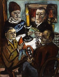 Max Beckmann, Les aristes mit Gemuse (Artists with Vegetable), 1943. Mildred Lane Kemper Art Museum, Washington University in St. Louis. http://www.hypo-kunsthalle.de/ausstellungen/details/dixbeckmann/