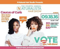 DMV! We're coming to see you! #Repost @thenaturalistahairshow  The LARGEST HAIR SHOW in the DMV is just around the corner! This largely attended hair show is where all the Naturalistas gather to talk all things curls. Hand selected vendors free hair classes panels hands-on classes a pamper lounge a VIP Lounge and more. Hit the link in the bio to see how you can get tickets starting at just $13! Will you be there?#JustVoteYes