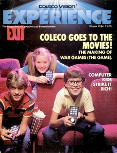 ColecoVision Experience magazine (Winter 1984). Young Al Franken cover photo.
