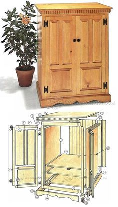 Country Cabinet Plans - Furniture Plans and Projects   WoodArchivist.com