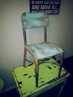 Vintage School Chair School Chairs, Vintage School, Dining Chairs, My Style, Furniture, Home Decor, Decoration Home, Room Decor, Dining Chair