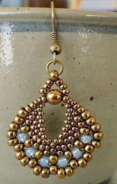 Linda's Crafty Inspirations: Peyote Fan Earrings by Shopway2much