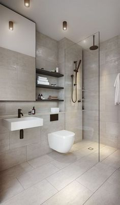 64 Adorable Bathroom Tile Design Ideas And Decor bathroom tile ideas, bathroom decoration, moder bathroom design, small bathroom ideas Bathroom Tile Designs, Modern Bathroom Decor, Modern Bathroom Design, Bathroom Interior Design, Contemporary Bathrooms, Toilet And Bathroom Design, Minimalist Bathroom Design, Modern Toilet Design, Small Bathroom Ideas