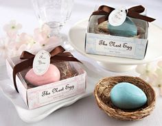 Robin's egg soap in nest