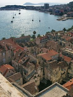 View of Split from the cathedrall belltower, via Flickr.
