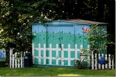 Paint a shed #garden just a run of the mill she like I have I want to paint like this