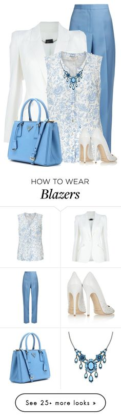 """Spring Work Outfit"" by daiscat on Polyvore featuring Rochas, Alexander McQueen, EAST, Prada, Jimmy Choo and 1928"