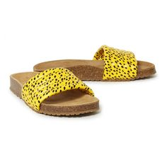 Sandalen Leopard Gelb Bobo Choses Schuh Erwachsene Birkenstock, Slip On, Shoes, Fashion, Yellow Shoes, Sandals, Women's, Moda, Zapatos