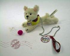 West Highland TERRIER dog puppy westie Mohair OOAK leash coat ball Maltese pug  | eBay New in my shop today! #unique #handmade #gifts #doglovers #westie #westhighland #terrier #Maltese #dogs #puppies #mohair #ooak #rooseveltbearco #artistbears #luxury #toys #mustlovedogs #teddybears #wedding #dolls #collectibles #designer #miniature #puppies #leash #ball #coat #tagged #signed Maltese Dogs, Dogs And Puppies, Miniature Puppies, West Highland Terrier, Bear Art, Terrier Dogs, Roosevelt, Westies, Pugs