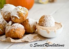 Pumpkin Beignets and Spiced Cream Frosting