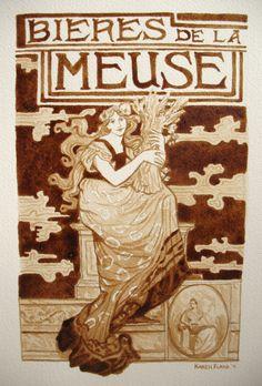 """""""Bieres de la Meuse""""  Beer+Water  by Karen Eland"""