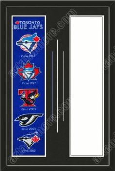 Toronto Blue Jays & Your Choice of other Team Heritage Banner Framed-House Divided-House Together-Awesome & Beautiful