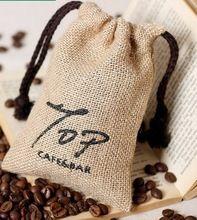Imprenta bolsa de granos de café saco de yute precio barato de la buena calidad                                                                                                                                                                                 Más