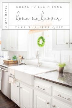 Home Makeover | Take the free quiz to decide how to start your home makeover! #homedecor #makeover