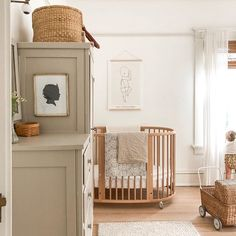 gender neutral nursery room ideas we love! Baby Bedroom, Baby Boy Rooms, Baby Room Decor, Nursery Room, Cottage Nursery, Chic Nursery, Simple Baby Nursery, Apartment Nursery, Wood Nursery