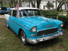 55 Chevy just like mine I bought from a farmer in KS.....he had stored in his barn for years....what a buy